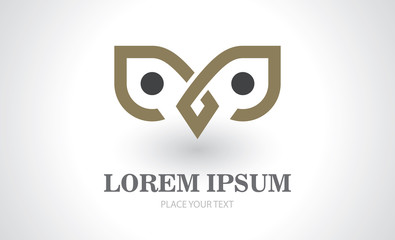 owl icon abstract logo