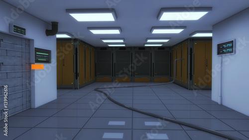 futuristic warehouse space ship futuristic interior sci fi view rh fotolia com