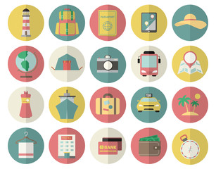 Travel icons. Vector ilustration