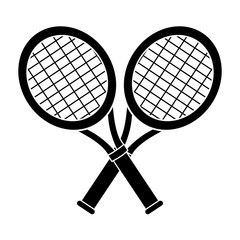 contour racket and tennis ball icon