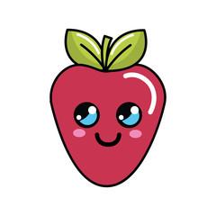 color kawaii happy strawberry icon