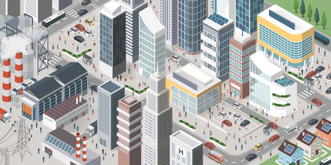 Contemporary isometric city