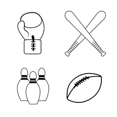 figure sport game background icon