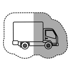 figure trucks trailer icon, vector illustraction design