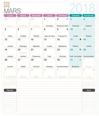 French Calendar 2018 Calendar 2018 Set Of 12 Months January