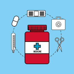 pharmaceutical drugs and surgery icon