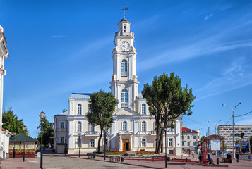 Old Town Hall of Vitebsk in sunny summer day, Vitebsk, Belarus