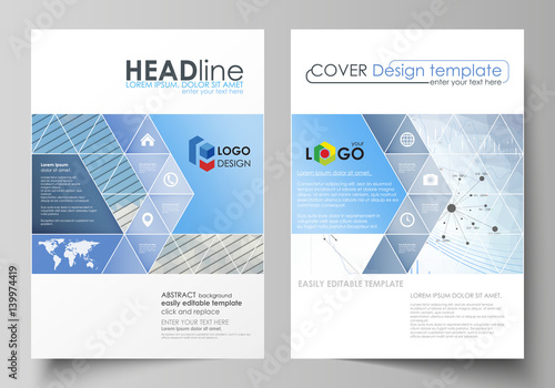 Business Templates For Brochure, Flyer, Annual Report. Cover Design Template,  Vector Layout  Free Report Cover Templates
