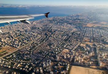 Aerial view of Tel Aviv. Israel