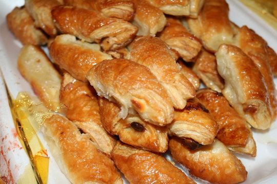 a platter full of guava pastries