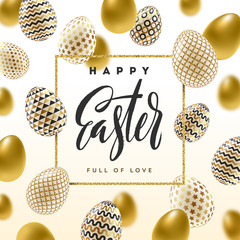 Easter vector greeting card