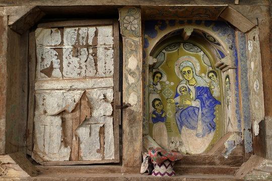 Ikonen im Kloster von Bahir Dar in Äthiopien