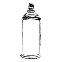 blurred silhouette aerosol spray bottle can icon vector illustration