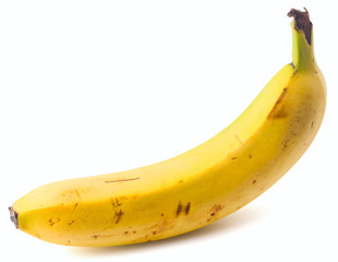 mature group of bananas on a white background, isolated