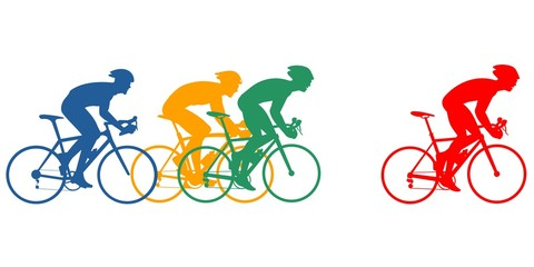 Cycling athlete - color