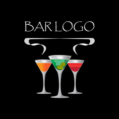 Vector picture, bar logo on a black background.