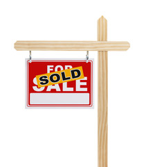 For Sale Real Estate Sign Sold