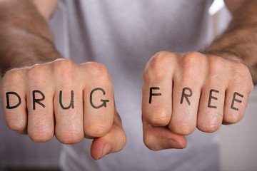 Drug Free Concept On Fist