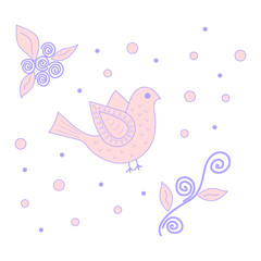 Pink and purple bird