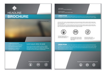 Template layout for annual report brochure flyer vector