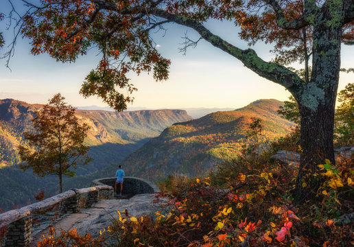 Autumn view of the Linville Gorge Wilderness from Wisemans Point Overlook