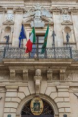 Vermexio Palace - City Hall of Syracuse, loctaed on the Ortygia isle, Sicily island, Italy