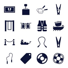 Set of 16 rope filled icons