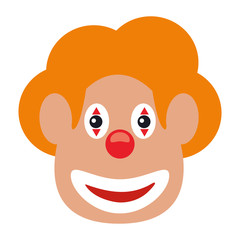 face clown april fool day vector illustration eps 10