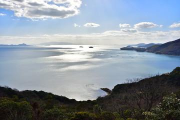 世界の梅公園から見た西側の風景(2017年2月)