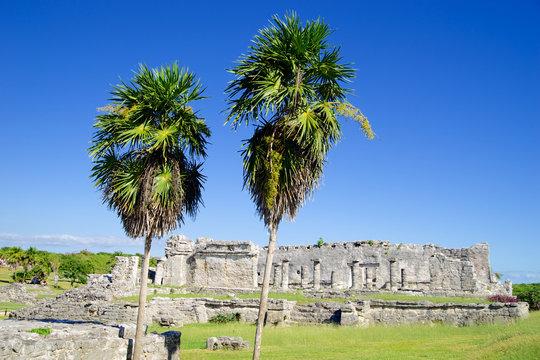 tulum ruins by the sea mayan mexico yucatan riviera maya