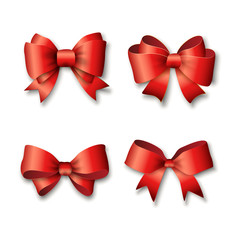 Red ribbons set for gifts