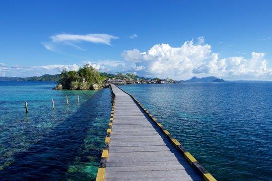 walkway island bridge indonesia