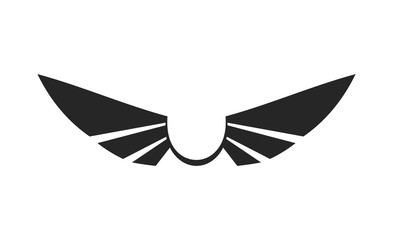 Wing Vector. Isolated.