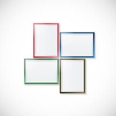 Blank picture frame template set. vector illustration.