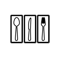 cutlery picture decorative icon, vector illustraction design