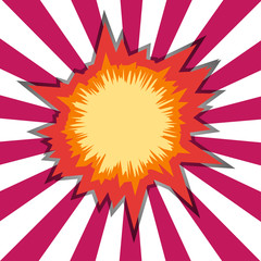 Boom star bursting. Comic Book Hole or explosion.