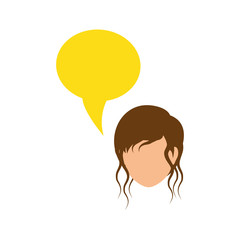 Women faceless profile icon vector illustration graphic design