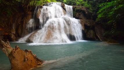 Wall Mural - Huay Mae Kamin waterfall in the summer, Kanchanaburi, Thailand