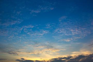 sky on sunset