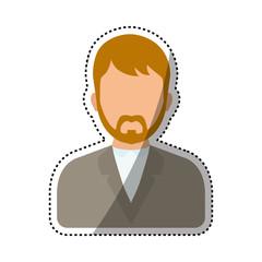 Men faceless profile icon icon vector illustration graphic design