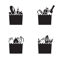 Grocerie bag icons