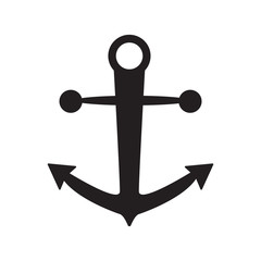 anchor black color icon isolated vector