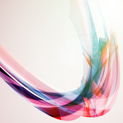 Abstract colorful background. Vector illustration. Wave background with light effects