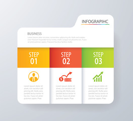 Infographic tab index design vector and marketing template business. Can be used for workflow layout, diagram, annual report, web design. Business concept with 3 options, steps or processes.