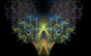 Abstract firebird in the dark
