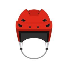 Hockey helmet icon, flat style