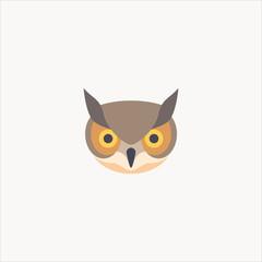 owl icon flat design