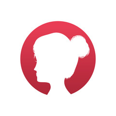 Woman head silhouette icon vector illustration graphic design