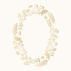 Golden oval wreath
