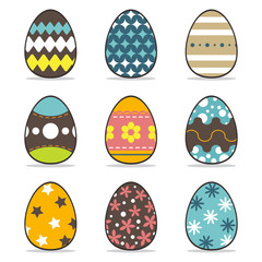 icon easter egg  set, symbol vector